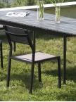Chaise de jardin empilable Agape gris