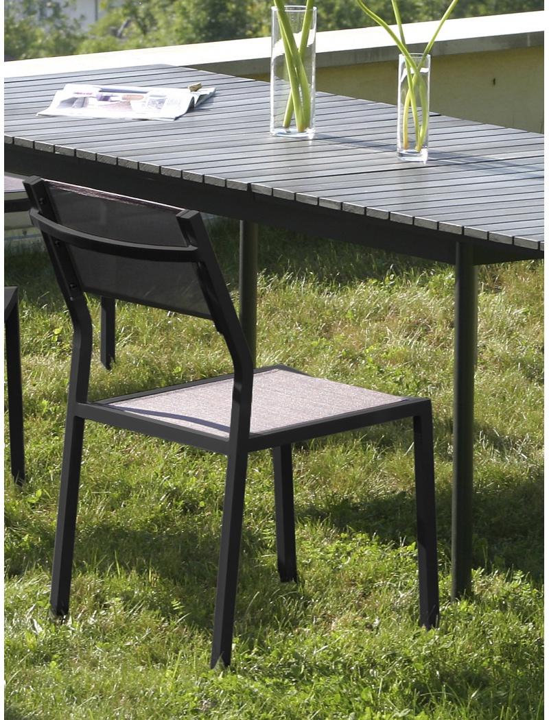 chaise de jardin en alu chaise empilable agape coloris gris. Black Bedroom Furniture Sets. Home Design Ideas