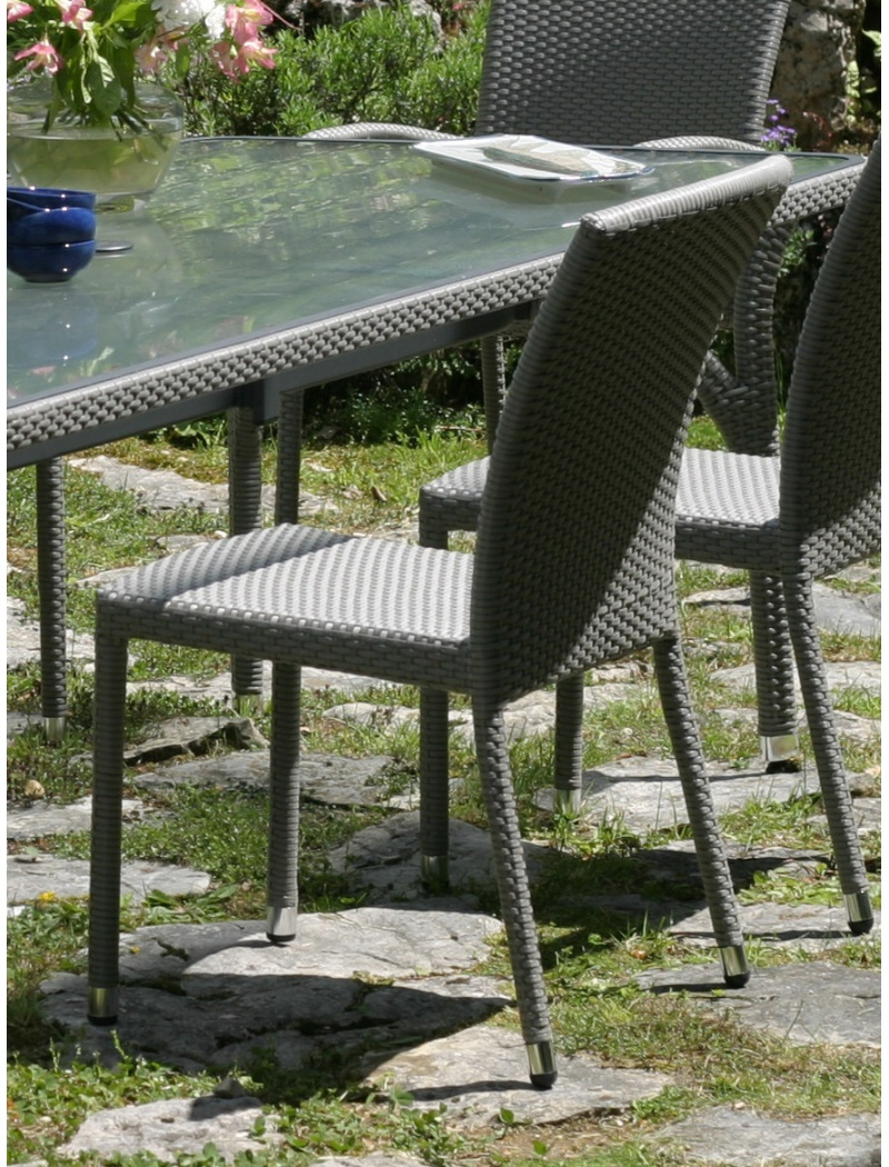 Chaise de jardin deauville en r sine tress e hedone - Chaise de jardin en resine ...