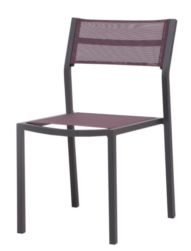 Chaise de jardin empilable agape prune hedone chaises for Chaise prune