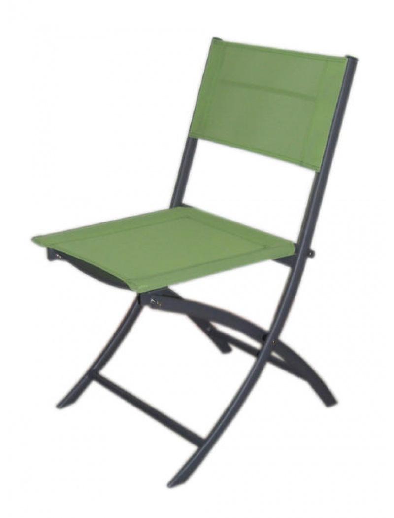 Chaise pliante Jean's toile Phifer vert pistache