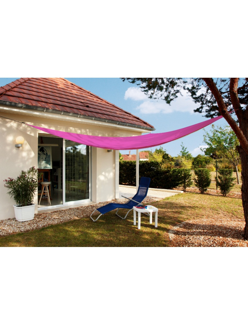 Voile Du0027ombrage Triangulaire 3m Rose. Undefined