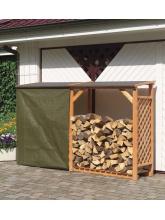 Bûcher en treillis de bois avec extension