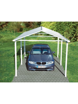 Carport platinium finition blanc