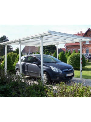 Carport tradition finition blanc