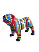BullDog Américain L debout Multicolore
