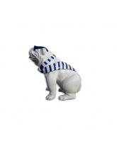 Bull Dog US Assis Cravate Marinière Bleue