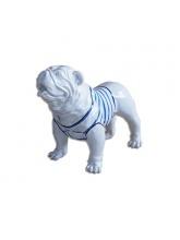 BullDog Américain M debout Marinière Bleue