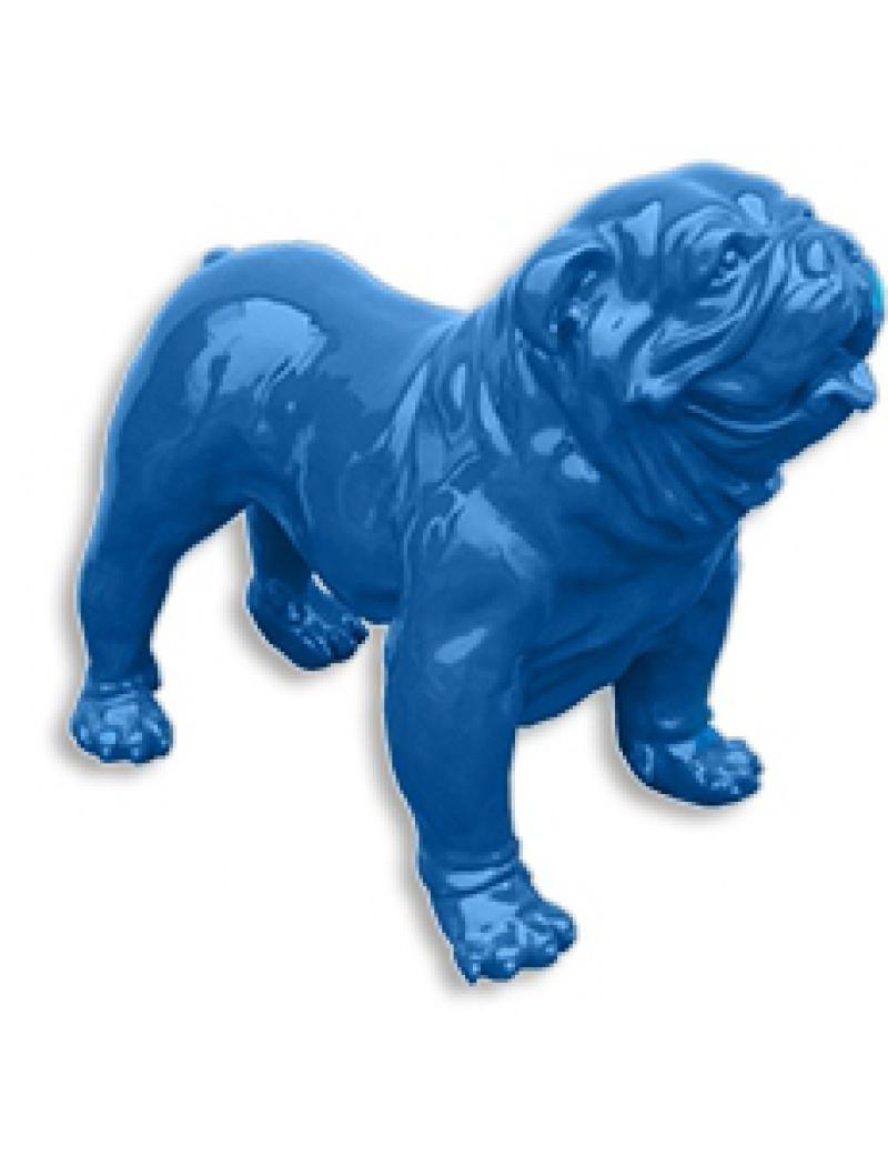 Bulldog Am Ricain L Debout Bleu Infinytoon Objets D Co Statues