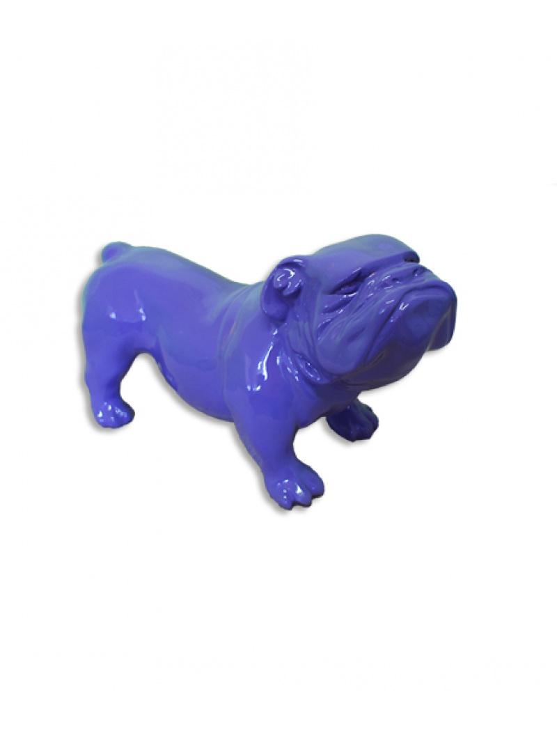 Bulldog uk violet infinytoon objets d co statues for Objet deco violet