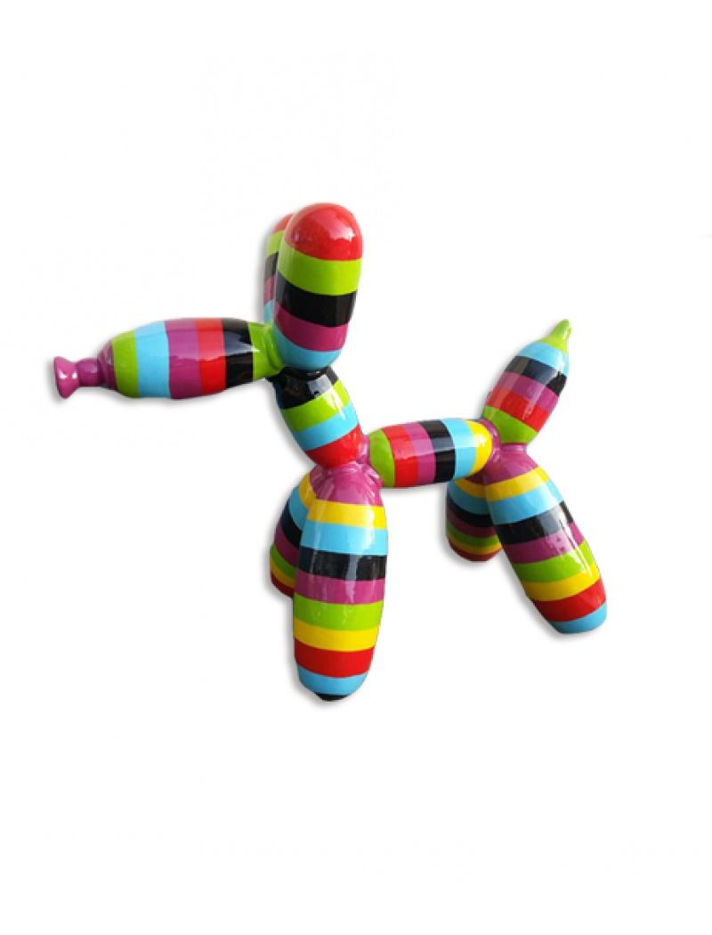 Chien ballon multicolor infinytoon objets d co statues for Chien deco jardin