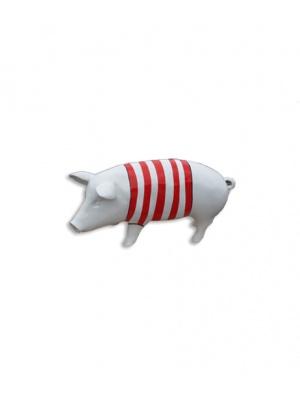 Cochon blanc avec marinière rouge