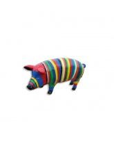 Cochon multicolore