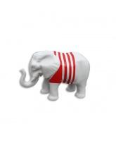 Éléphant blanc avec marinière rouge