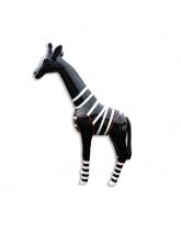 Girafon noir avec marinière blanche