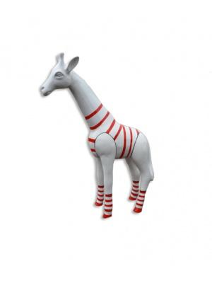 Girafon blanc avec marinière rouge