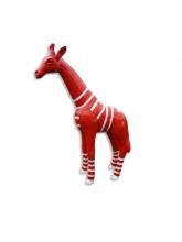Girafon rouge avec marinière blanche