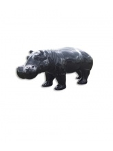 Hippopotame monochrome Noir