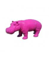 Hippopotame monochrome Rose