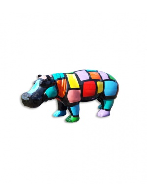 Hippopotame Arlequin taille L