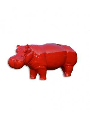Hippopotame XL Rouge