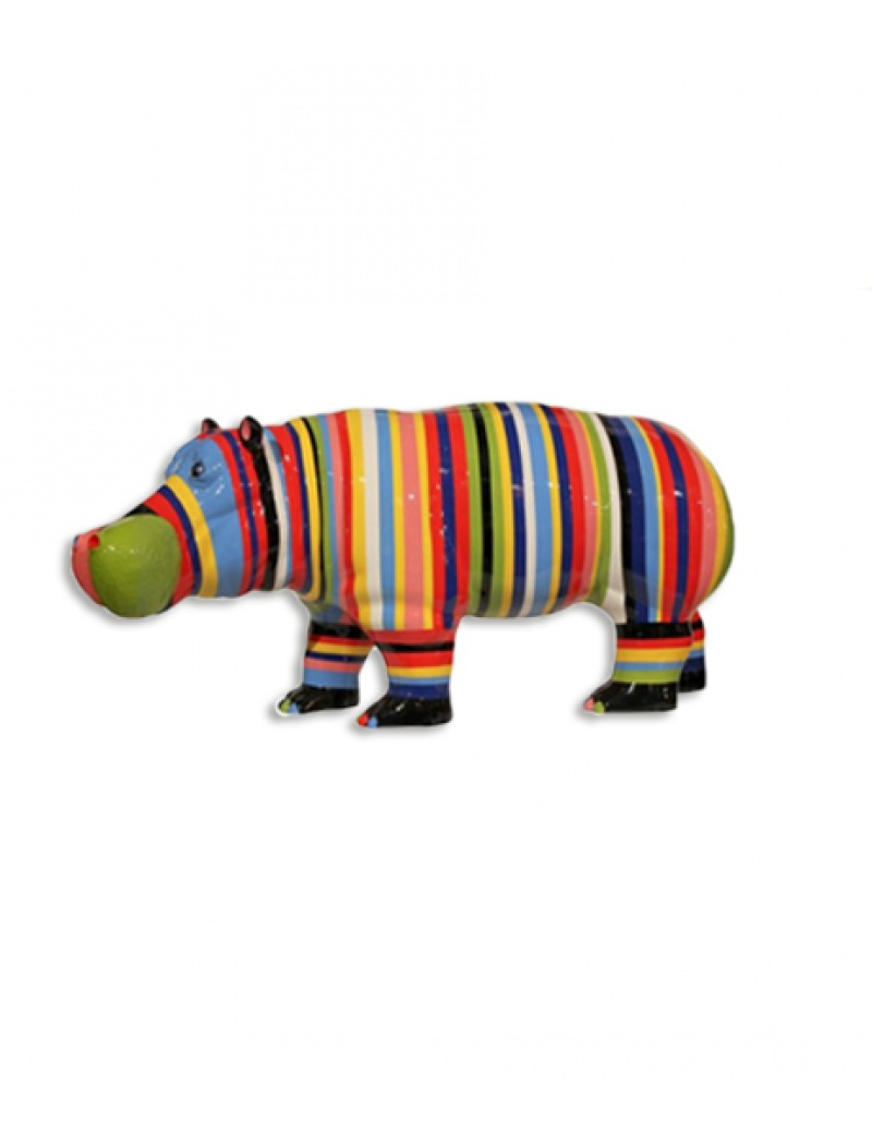 Hippopotame xl multicolor infinytoon objets d co for Objet decoration hippopotame