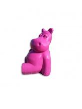 Hippopotame assis Rose