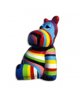Hippopotame multicolor assis