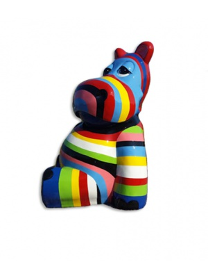 Hippopotame multicolor assis