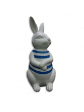 Lapin blanc marinière bleue