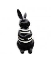 Lapin noir marinière blanche