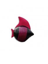 Poisson noir marinière rose