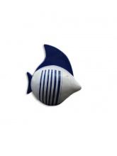 Poisson blanc marinière bleue