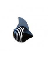 Poisson noir marinière blanche