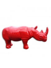 Rhinocéros taille XL Rouge