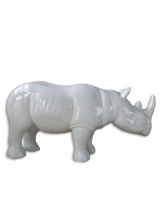 Rhinocéros taille XL Blanc