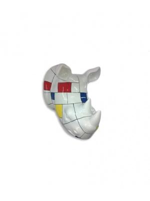 Trophée Rhino mosaïque