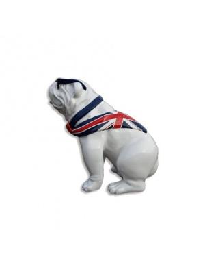 Bull Dog US Assis Cravate Drapeau Anglais