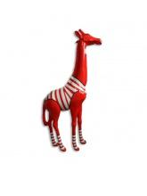 Girafe Marinière blanche 205cm