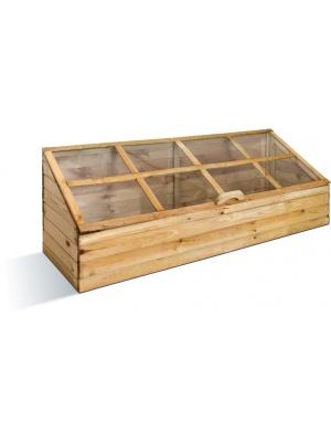 Serre de jardin en bois quatre compartiments