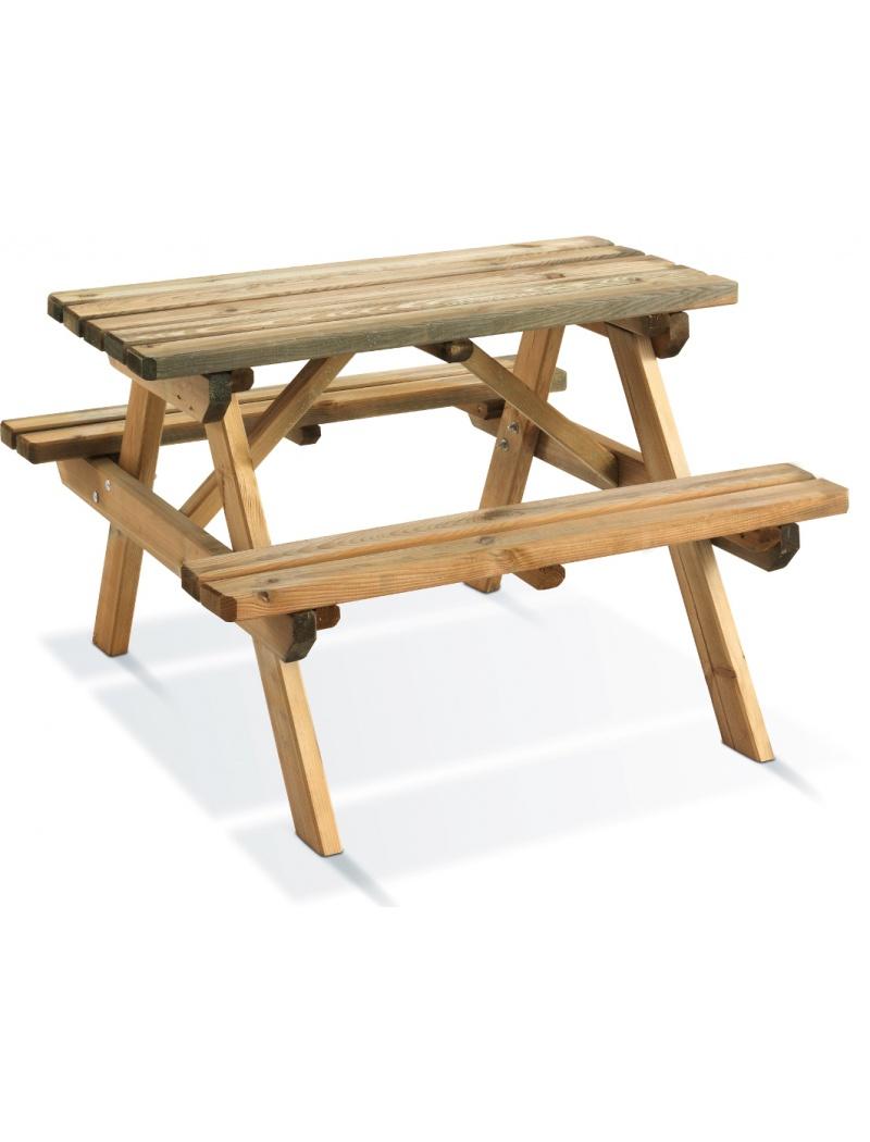 table de jardin enfant en bois jardipolys wapiti. Black Bedroom Furniture Sets. Home Design Ideas