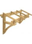 Auvent en bois Borgia pour porte d'entrée