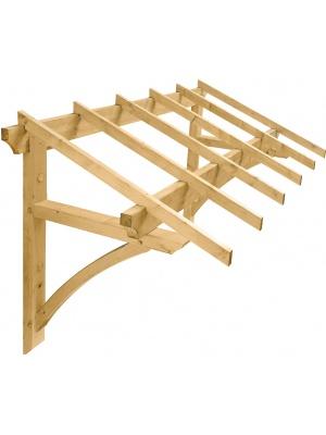Auvent en bois Medicis pour porte d'entrée