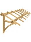 Auvent de garage en bois Firenze