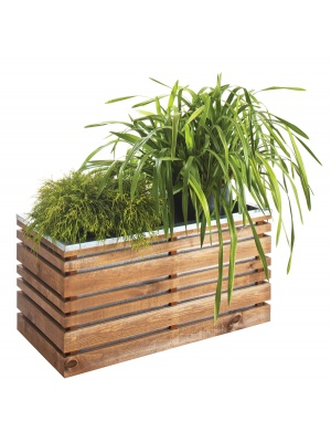Jardinière en bois Lign Z rectangulaire 100 cm