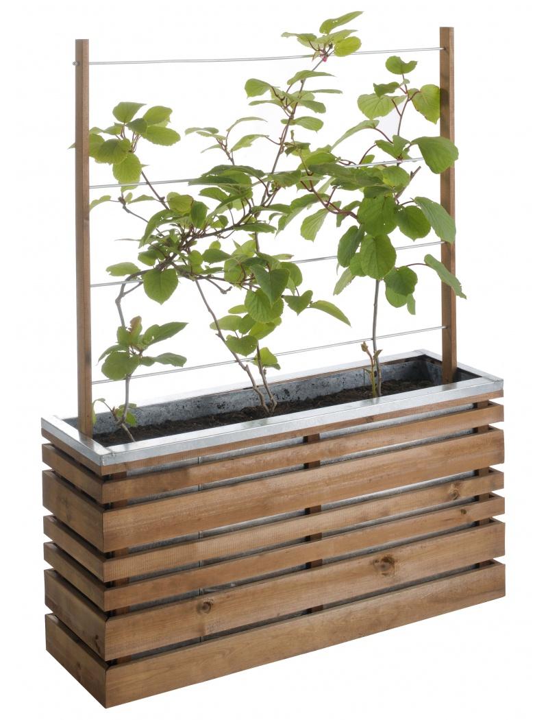 bac fleurs burger lign z avec treillis en bois et acier. Black Bedroom Furniture Sets. Home Design Ideas