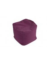 Pouf Cube repose-pieds Aubergine