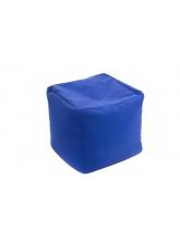Pouf Cube repose-pieds Bleu