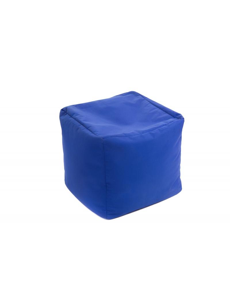 Jumbo bag Pouf Cube repose-pieds Bleu