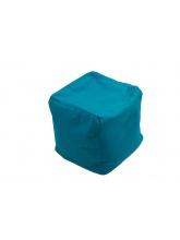 Pouf Cube repose-pieds Bleu pétrole